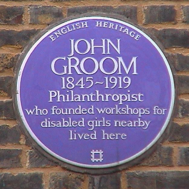 John Groom Blue plaque