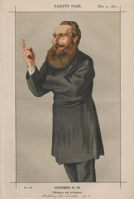 NPG D43513; Anthony John Mundella ('Statesmen, No. 99.') by James Jacques Tissot